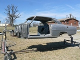 Chevy Nova soda blasted and prepped for new paint job