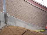 wall repaired with sodablasting