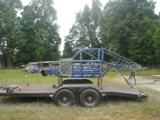NASCAR Race Chassis ready for sodablasting